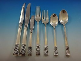 Columbine by Lunt Sterling Silver Flatware Service For 8 Set 59 Pieces - $3,495.00