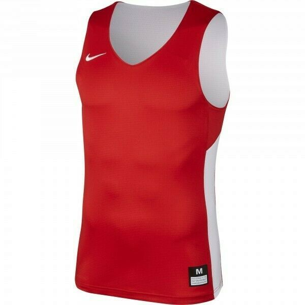 Nike Youth Boy's S Reversible Basketball Tank Training Practice 872382 Red White - $13.26