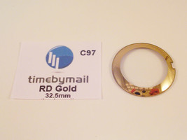 For RADO COUPOLE 32.5mm Gold Watch Glass Crystal Replacement Spare Part C97 - $25.38