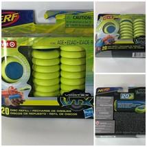 NERF Vortex VTX 20 Disc Refill Pack Soar & Ricochet Hasbro age 8+ Neon Green NEW - $8.90