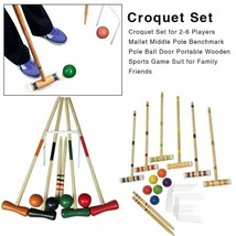 Croquet Set Poll Ball Door Portable Wooden Sports Game Suits Adults Kids... - $190.59+