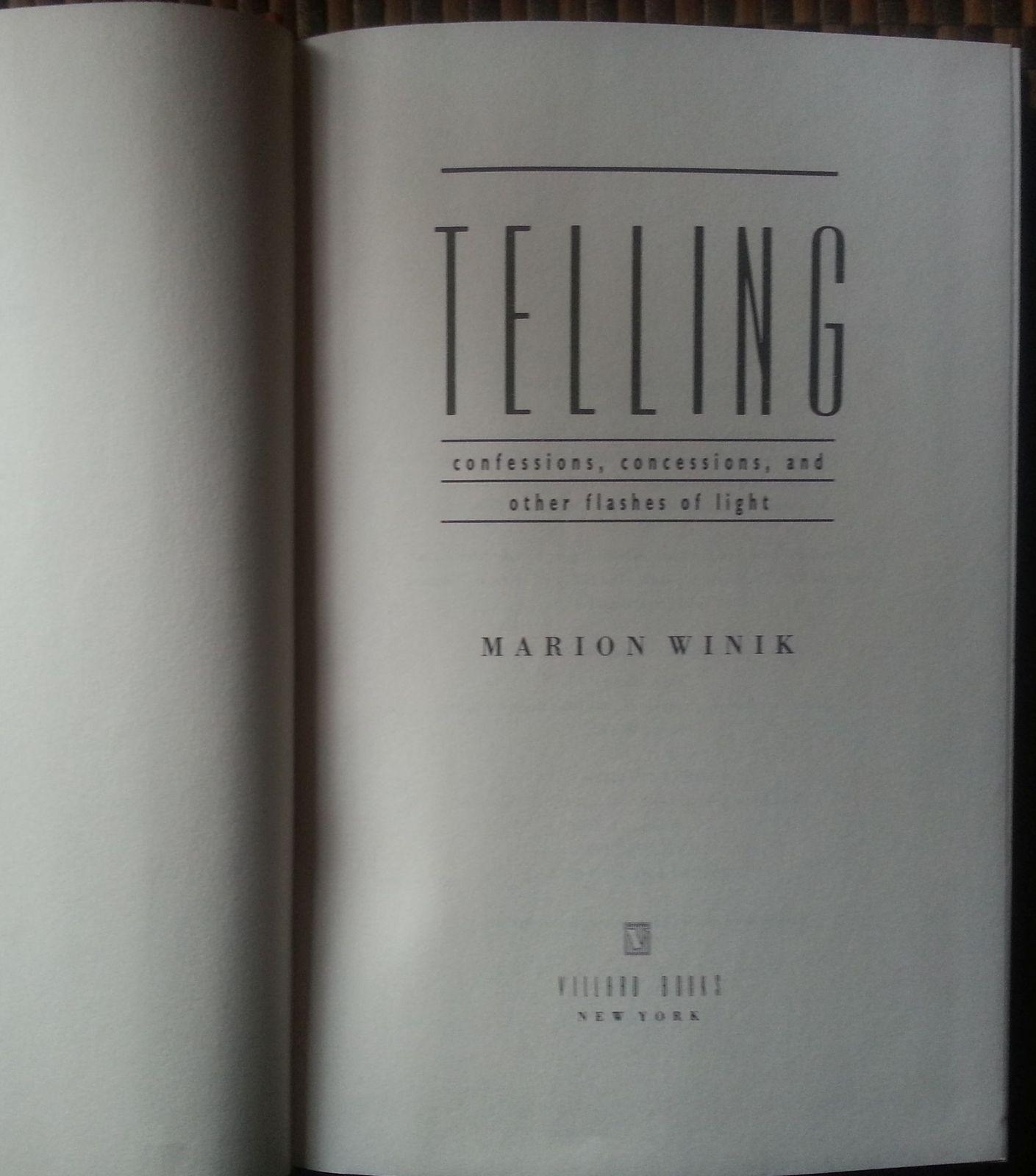 Telling by Marion Winik 1994 HBDJ  NPR Radio