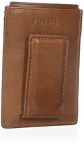 Fossil Truman Magnetic Credit Card Case, ML3647216 Leather Saddle - ₨2,032.06 INR