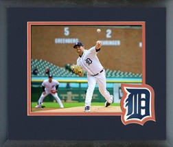 Matthew Boyd 2018 Detroit Tigers Action -11x14 Team Logo Matted/Framed P... - $43.95