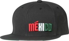 Adidas MEXICO BLACK Football Anthem Snapback Flatbrim  Hat - $24.19