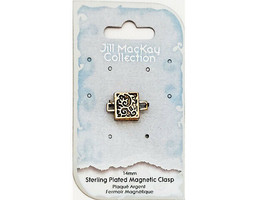 Jill MacKay Collection Sterling Plated Magnetic Clasp 14MM