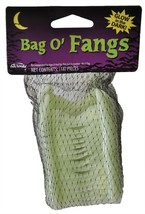 Bag of Fangs Prop Vampire 18 Glow In The Dark Mesh Bag Halloween FW91197G - £30.57 GBP