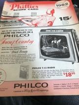Philadelphia Phillies vs Houston (1st year) Score Card Program 1962 - $29.69