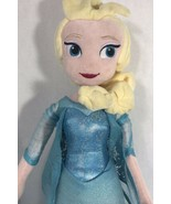 "Disney Frozen Princess Elsa Plush 19"" Blue Dress Stuffed Animal Toy - $15.83"