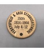 Vintage Madera Níquel Perryopolis Sesquitennial 1964 Pennsylvania - $25.35