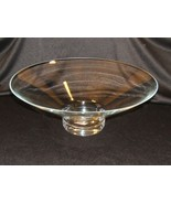Designer Halo Pedestal Bowl 15in x 5 5/8-in Poland Made 4703000 Glass - $48.01