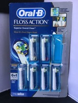 5 Oral-B Floss Action Replacement Brush Head Power Tip Read Description M - $14.84