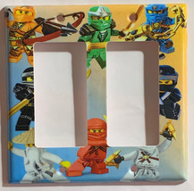 Ninjago characters Light Switch Power Outlet wall Cover Plate Home decor image 3