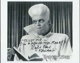 "Richard Kiel signed Twilight Zone Kanamit ""book"" photo. - $21.95"