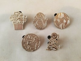 Disney Trading Pins Official Silver Character Pins Hidden Mickey Lot of 5 - $13.03