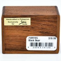 Northwoods Wooden Parquetry Black Bear Country Rustic Cabin Mini Trinket Box image 5