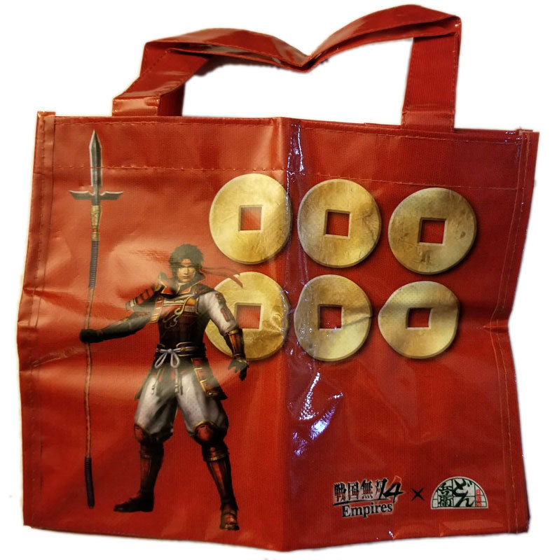 Samurai Warriors 4 Empires  Musou Cup Noodle Promo Tote Bag * Game / Playstation