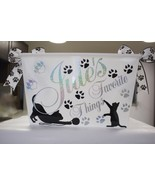Cat Toy box, Personalized Basket, Cat treat Basket, Cat Storage Bin Pet ... - $17.50