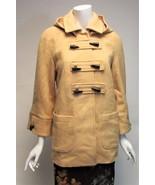 Chadwicks Wool Yellow Cream Removable Hood Jacket Sz 2 Petite NWOT - $48.20