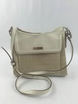 Liz Claiborne Top-Zip Cross-body Shoulder Bag Ivory Cream Small Gold Trim - $24.50