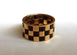 "18 K Yellow Gold Antique ""Van Cleef & Arpels"" Eternity Ring w. Wood  - $1,608.75"