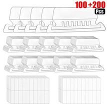 File Folder Tabs, 100 Sets Hanging File Folder Tabs with 200 Sets Inserts for Ha