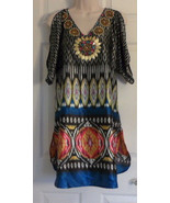 Boston Proper Cold Shoulder Dress Size Medium Embellished V Neck BEACH WEAR - $26.93