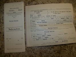 1916 CRIMINAL WARRANT COMPLAINT ASSAULT LEWIS NY COURT LEGAL DOCUMENT SC... - $9.89