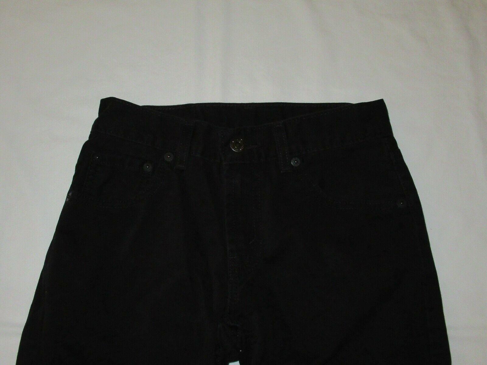 Boys Levis 505 Straight Black Denim Jeans Size 10 Reg Short! Brushed Cotton Warm image 3