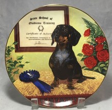 "DACHSHUNDS COLLECTORS 8"" PORCELAIN PLATE BY CHRISTOPHER NICK BRADBURY MINT - $7.38"