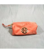 Tory Burch Pink/Salmon Mini Cosmetic Nylon Bag Metal Logo EUC $58.00 - $29.69