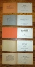 Lot of 5 Sheet Music 1930s from Germany. Schott's Kleine Blockfloten-Hefte - $11.30