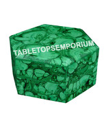 "5""x5""x3"" Marble Hexagon Jewelry Box Malachite Random Inlaid Decor Gift H... - €383,84 EUR"