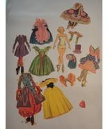 Vintage Merrill Little Ballerina Paper Dolls #1554 Cut Clothes One Paper... - $12.82
