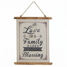 wall decoration, small Family Love Linen living room decorative wall art, wood - $27.49