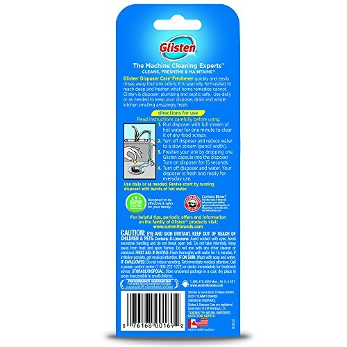 Glisten DPLM12T Disposer Care Disposer and Drain Freshener-0.81 Fluid Ounces-Lem