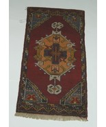 Unbranded DV127 Old Turkish Rug Multi Colored Hand Woven - $176.00