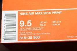 5 Authentic Crimson 2016 Nike New Total Print 9 Air Men Rare Size Max pzfq0wR7