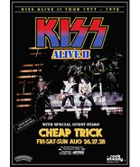 KISS Band ALIVE II L.A Forum Aug 26,1977 w Cheap Trick Standee Display -... - $15.99