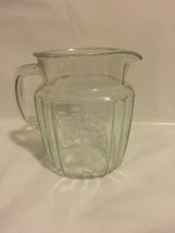 Vintage Anchor Hocking Glass Mayfair Clear Pattern Pitcher Collectible C... - $23.38