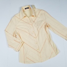 New WANKO sz 36 (medium) women's 3/4 sleeves button down stretch shirt (... - $15.00
