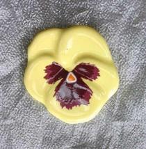 "Avon Vintage Ceramic Pansy Flower Brooch 1 3/4"" - $12.30"