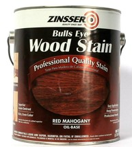 1 Can Zinsser 1 Gallon Bulls Eye Wood Stain Red Mahogany Oil Base Qualit... - $22.99