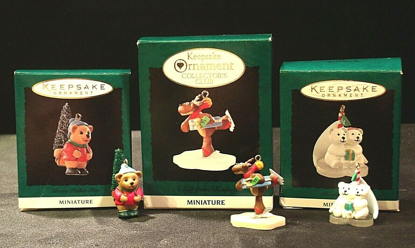 Hallmark Handcrafted Ornaments AA-191774F Collectible ( 3 pieces )