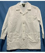 White Scrubs Natural Uniforms Sz 8/10 Womens 3 Pocket Medical Hospital S... - $8.59