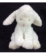 """Bunnies By The Bay White Sheep Lamb Plush Pink Nose Baby Soft Toy 10"""" - $62.83"""