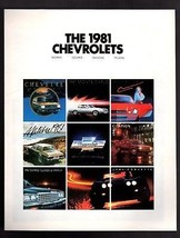 Original 1981 Chevrolet Full Line Brochure 12 Page   - $6.64