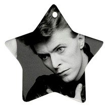 Memorabilia Star Ornament - David Bowie Star Procelain Ornaments Christmas  - $3.89