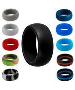 Men's Round Silicone Soft Flexible Rubber Ring Work Sport Wedding Band, 7-14 - $5.00