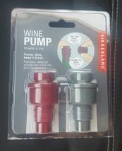 NEW KIKKERLAND WINE PUMP  Pump, Date, Keep it Fresh! Set of 2 - $8.25